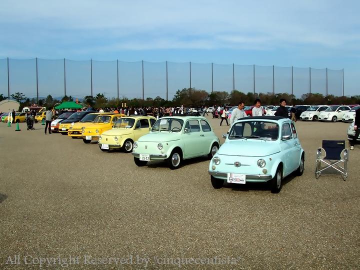 旧チンクエチェント(nuova500)も浜名湖イベントに勢揃い|all japan FIAT&ABARTH500 全国ミーティング 2012