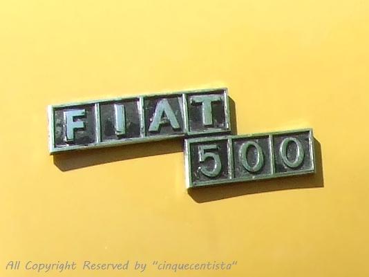 FIAT500 旧車エンブレム