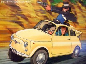 ルパン三世 カリオストロの城|黄色いチンクエチェント「追跡」グンゼ プラモデル FIAT500
