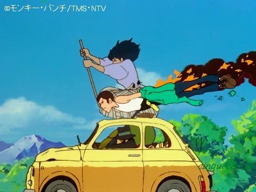 ルパンの黄色い車はフィアット500☆クラリス様の赤い逃走車は?