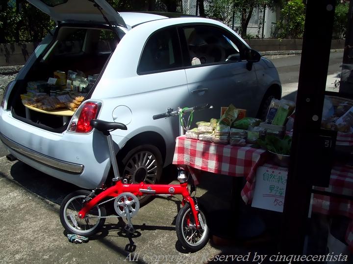 メルカート Fiat500で販売会