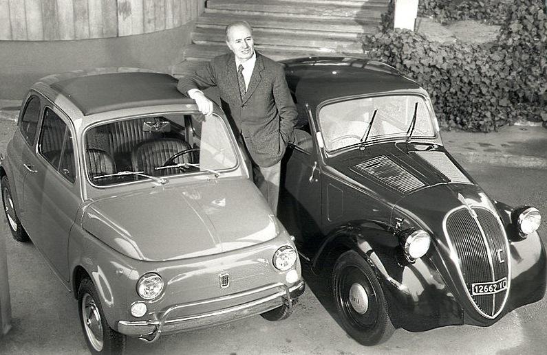 ダンテ・ジアコーザ トポリーノとFIAT500