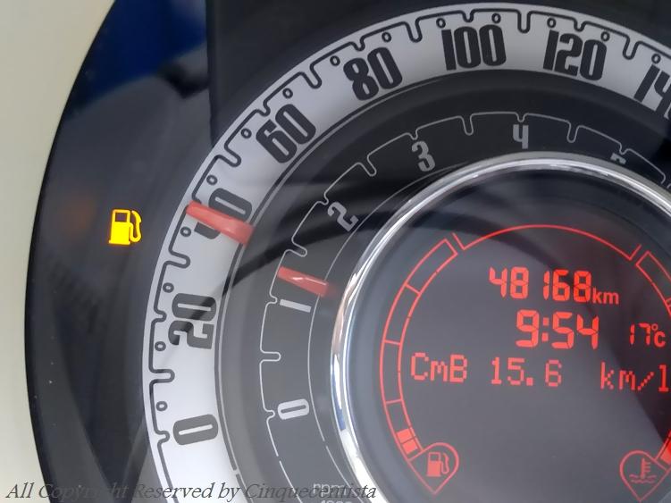 フィアット500 ガス欠